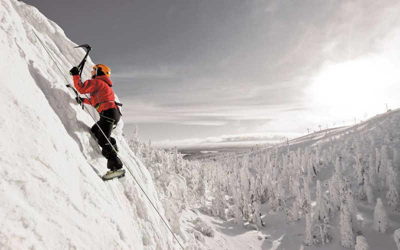escalada en hielo laponia
