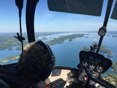 disfrutar de las Mil Islas desde el aire