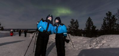 buscar auroras boreales con fotografo