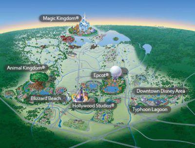 mapa disney orlando