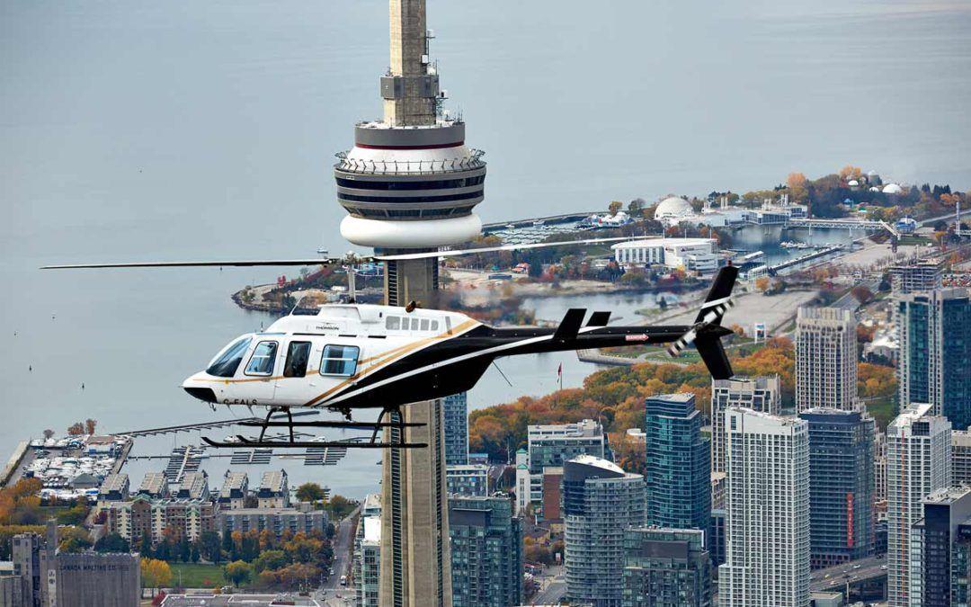 Viaje en helicóptero sobre Toronto, Canada